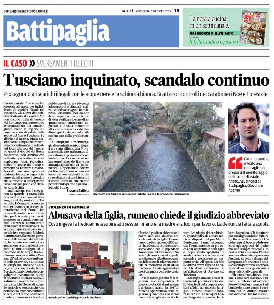 Fiume Tusciano inquinato, ancora.
