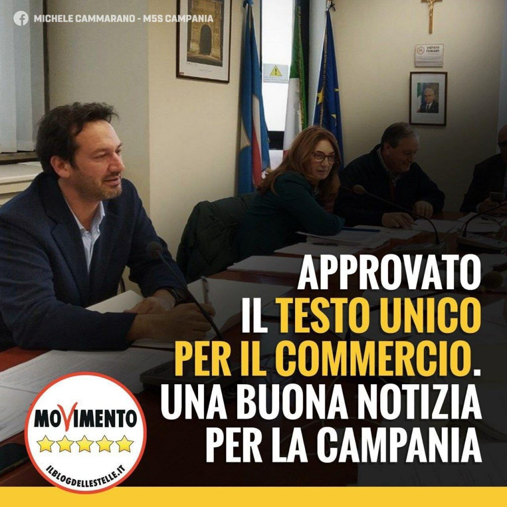 TU Commercio. Fondamentale apporto M5S in commissione