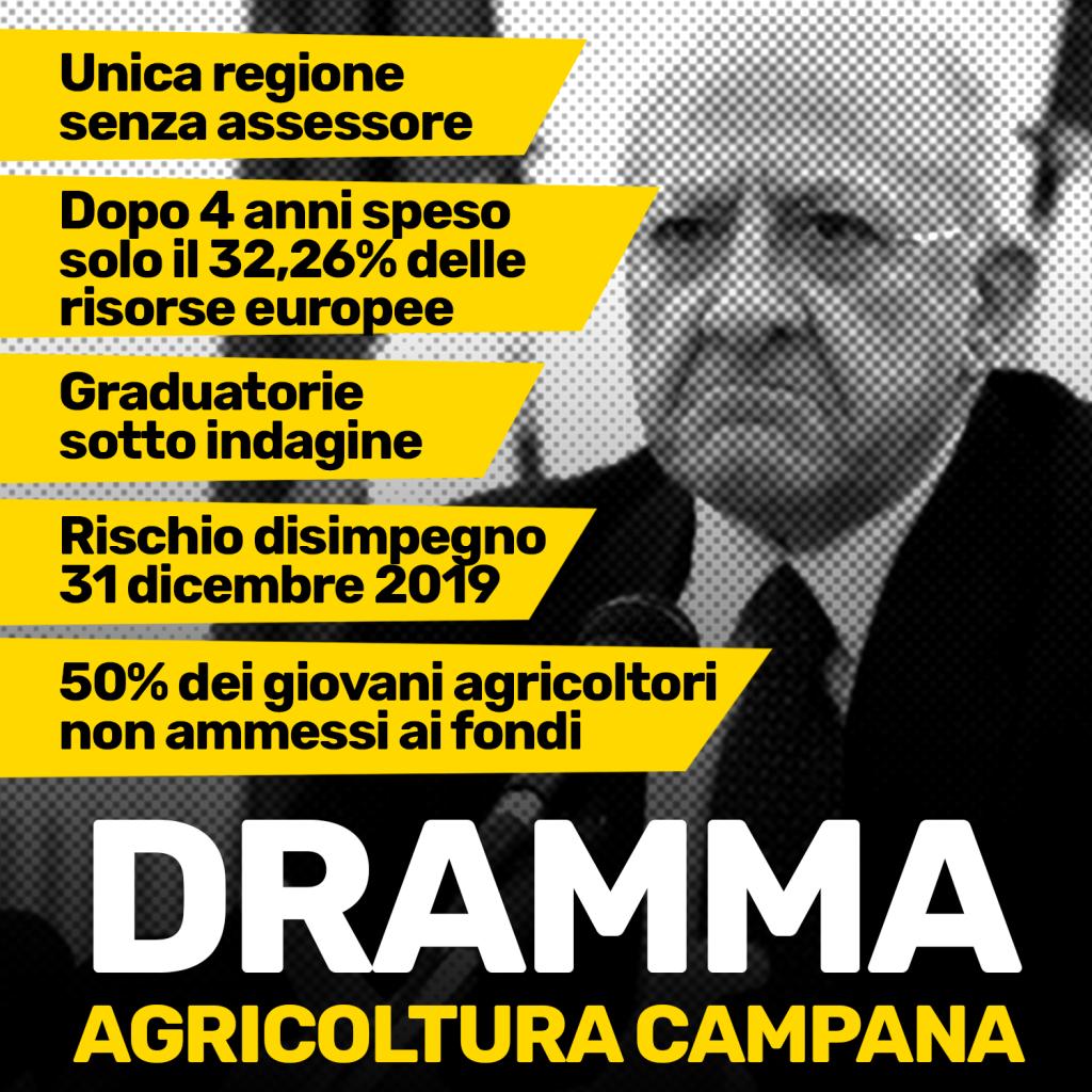 AGRICOLTURA, DE LUCA ALLO SBANDO