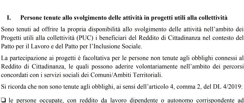 Reddito di cittadinanza, fase due. Pubblicato il decreto.