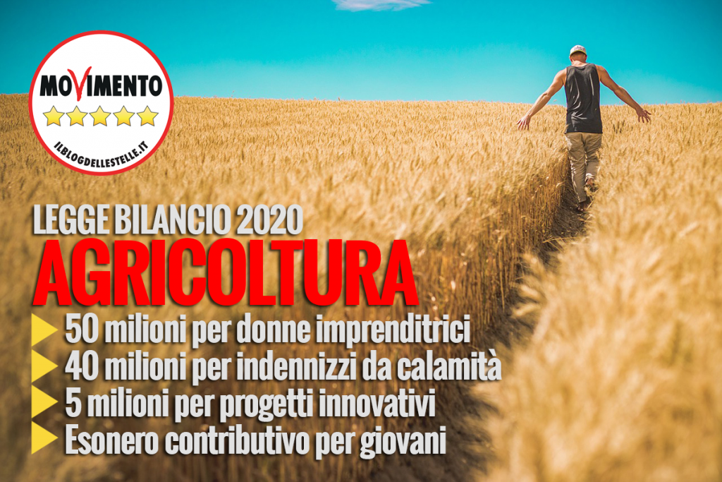 LEGGE DI BILANCIO 2020. AGRICOLTURA AL CENTRO