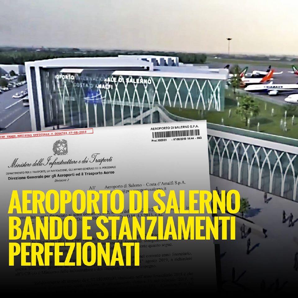 Aeroporto. Stanziamenti disponibili e bando pubblicato.