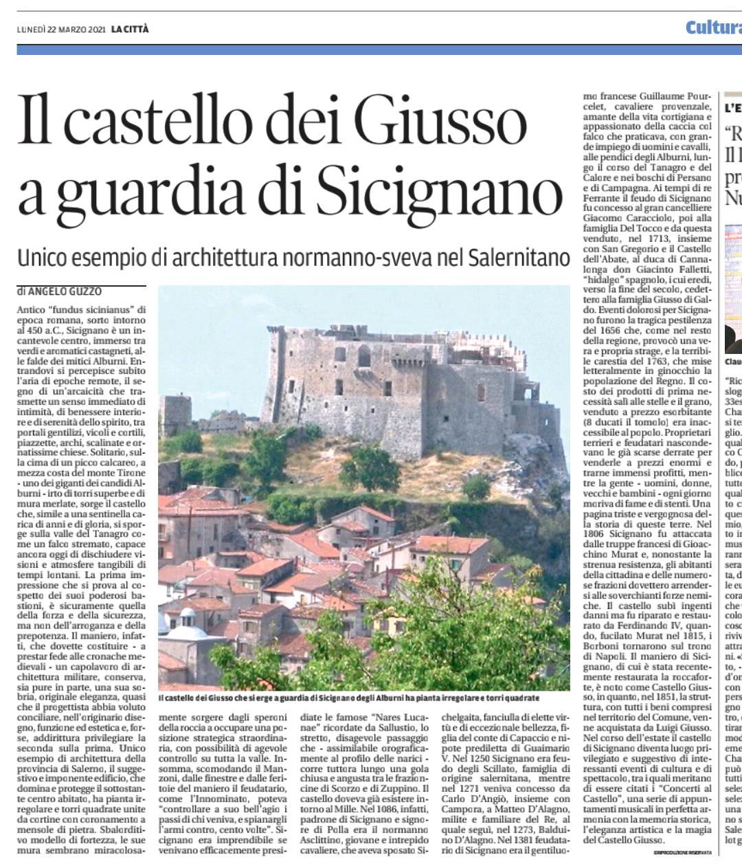 Castello del Giusto. Sicignano degli Alburni.