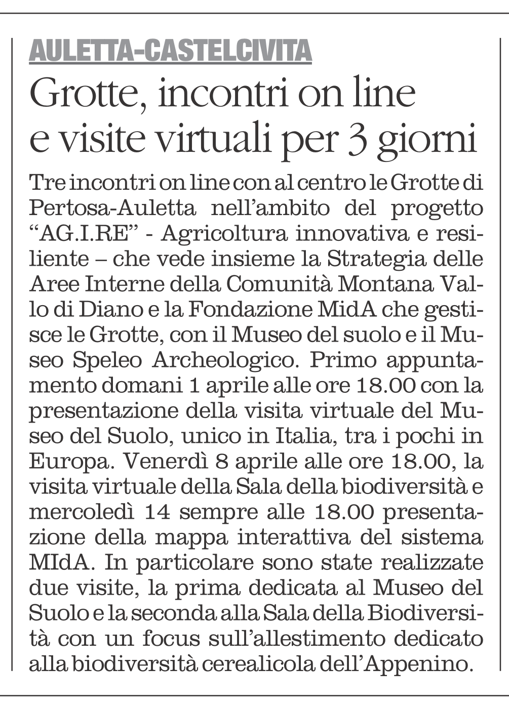 Grotte Castelcivita, visite virtuali