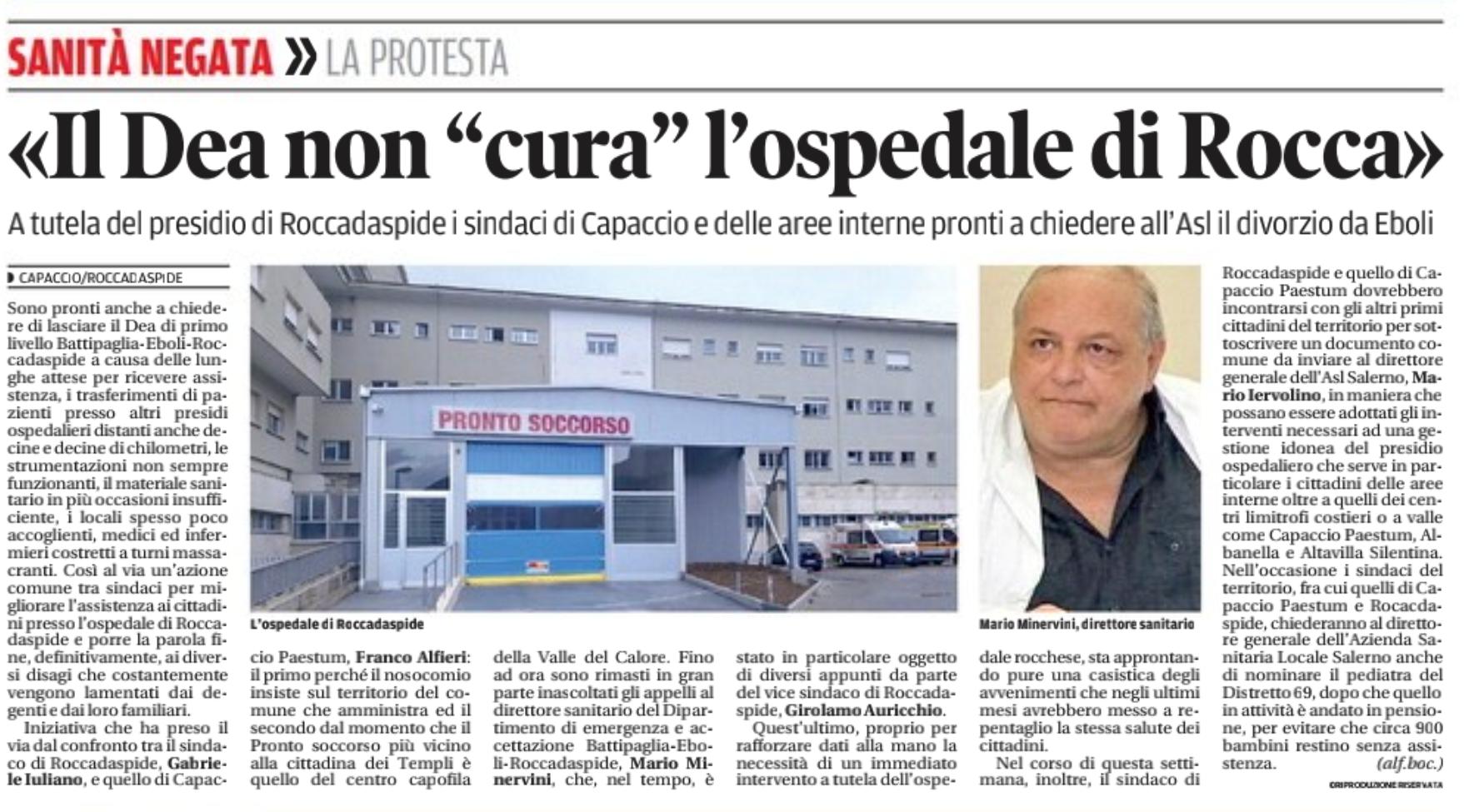 Il DEA non cura ospedale di Roccadaspide
